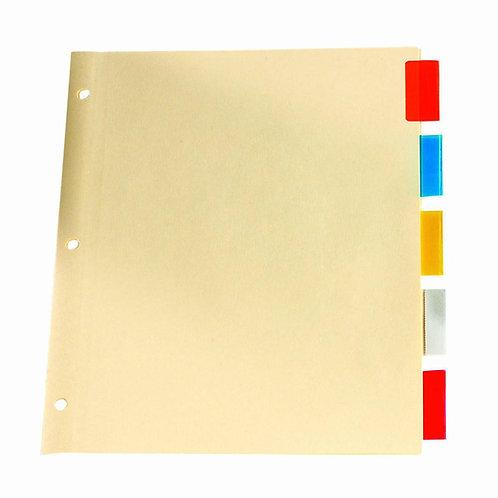 Paquet de 5 séparateurs à cartable