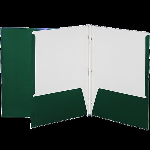 Reliure à 3 attaches laminée avec pochette (vert)