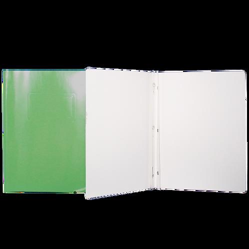 Reliure à 3 attaches de type «Duo-Tang» vert