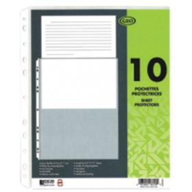 Paquet de 10 feuilles protectrices transparentes