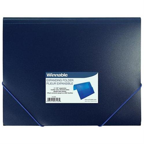 Enveloppe en plastique bleu avec attache
