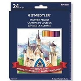 Boîte de 24 crayons de couleur en bois