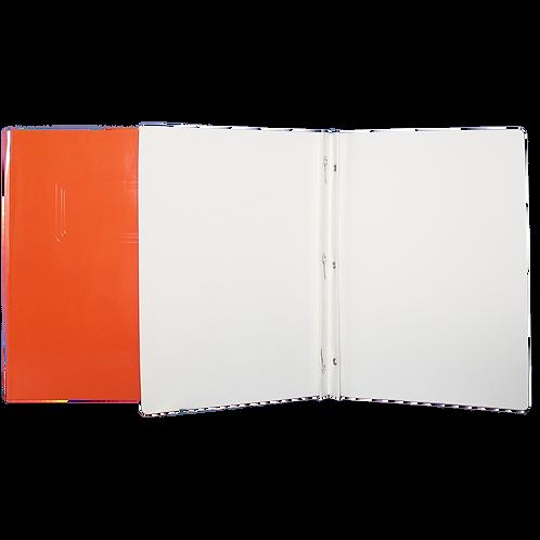 Reliure à 3 attaches de type «Duo-Tang» orange