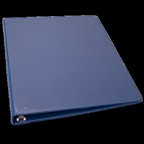 Cart. bleu (1½) avec pochette trans. sur le dessus