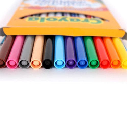Boîte de 12 crayons feutres