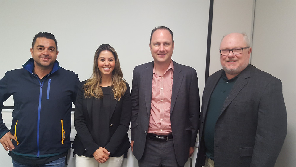 New FBBF Committee members from left: John Biondo, Alysia Reilly and Peter Smith join Murray Nicol, new committee Vice President, (second from right) at a recent meeting.