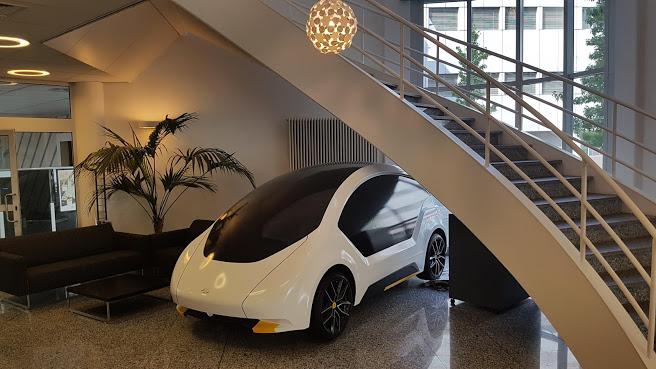 Car under stairs Eindhoven
