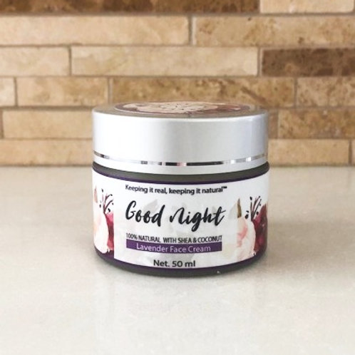 Good night face cream (Lavender)- 30 ml