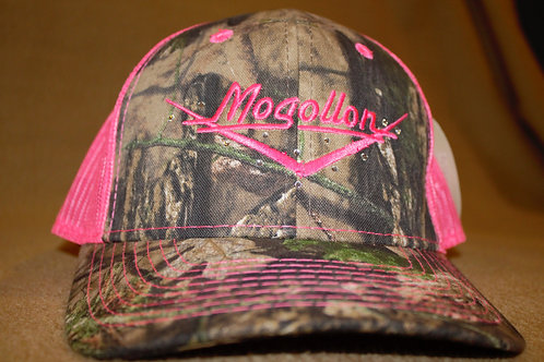 Ladies Pink Camo Hat with Bling