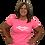 """Thumbnail: Ladies Mogollon Scoop Neck Tee """"Pink/White"""""""