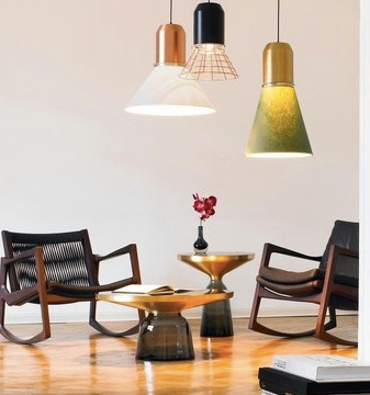 Table basse & luminaires en verre - Decorexpat