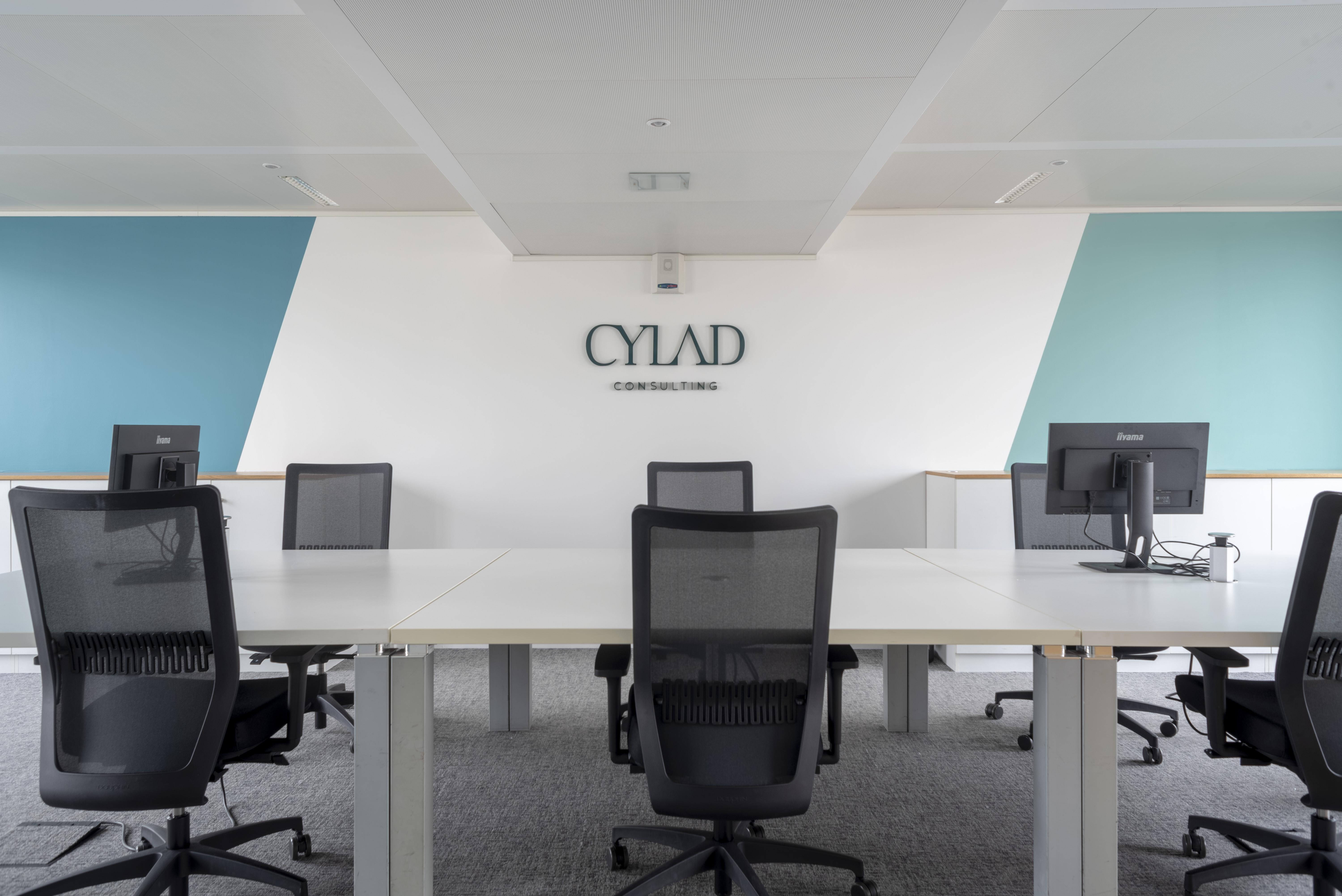 Grand bureau au style du logo