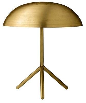 Lampe dorée et rayonnante