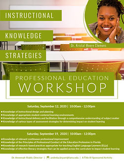 Dr. Clemons _ Professional Ed Workshop (
