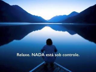 Relaxe. NADA está sob controle.