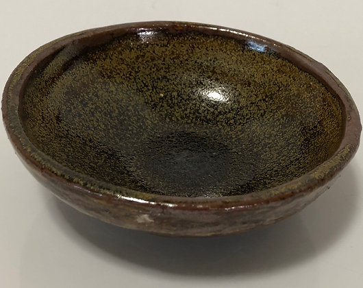 Brown and Yellow Speckled Snack Bowl