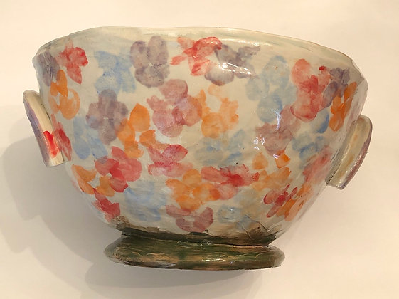 Extra Large Floral mixing bowl