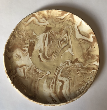 "9"" marbled clay plate"