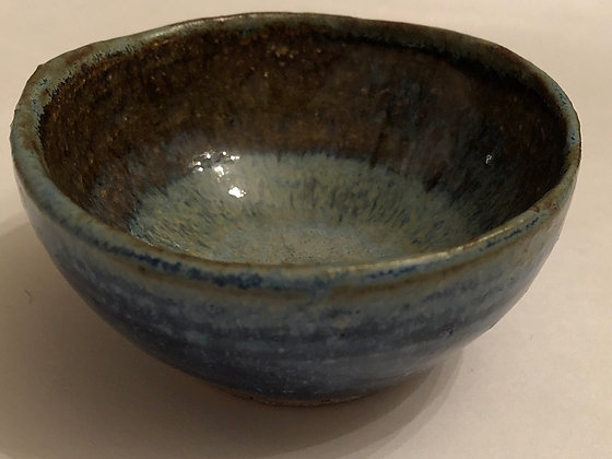 Blue pooled spice prep bowl