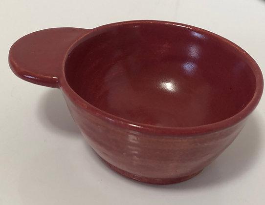 Dark Rose snack bowl with handle