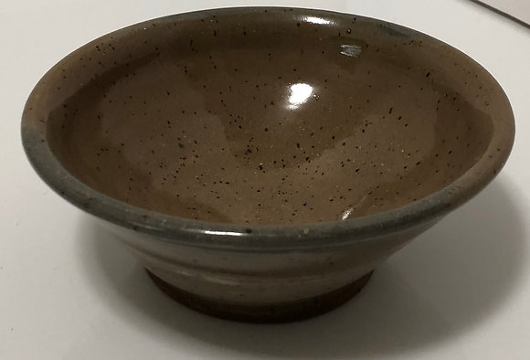 Soda fired grey soup/cereal bowl