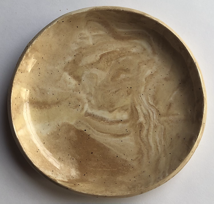 """4"""" marbled clay plate"""