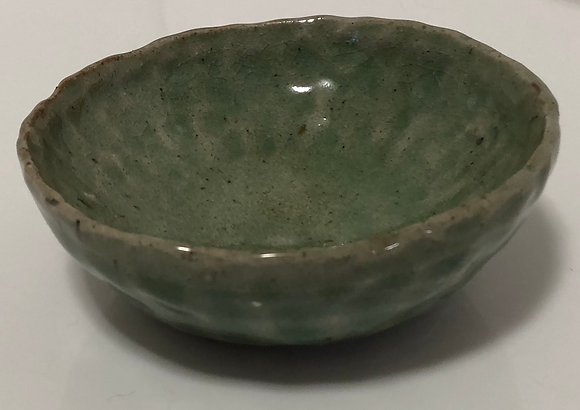Green Hammered Snack Bowl
