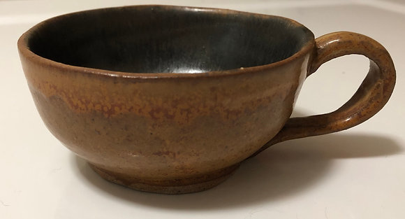 Black and Tan Cappuccino Cup