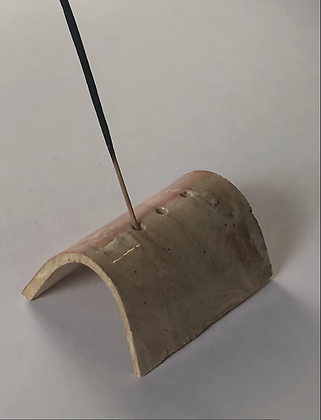 Marbled clay 3 incense holder