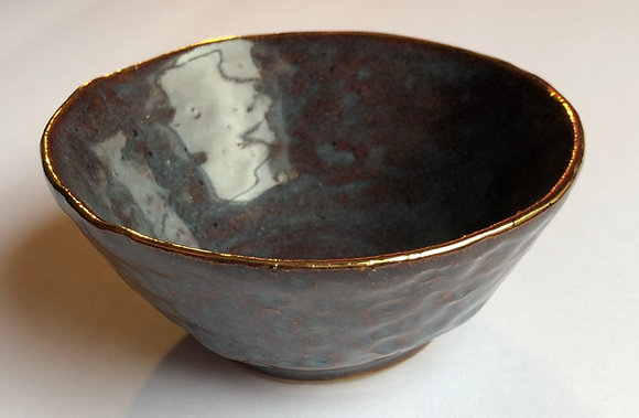 Gold embellished wrought iron style bowl