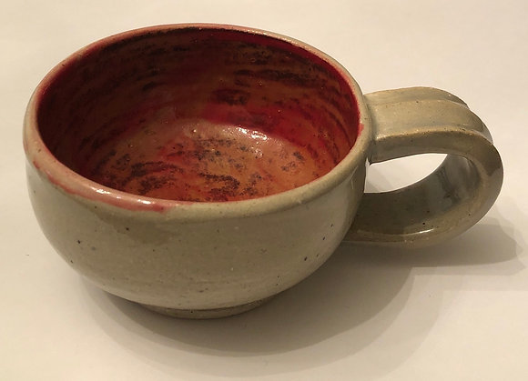 Red and White Cappuccino cup