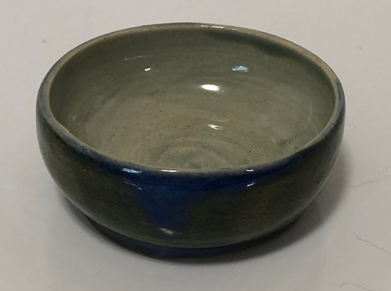 Teal and blue-gray snack bowl
