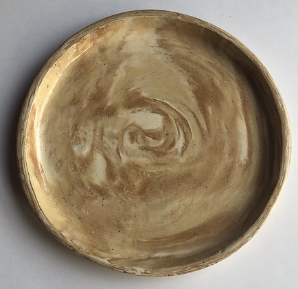 """6"""" marbled clay plate"""