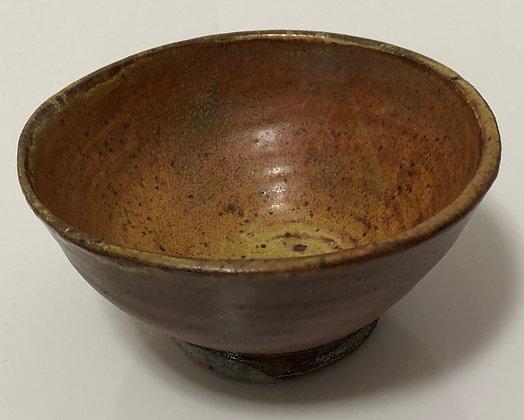 Speckled golden brown snack bowl