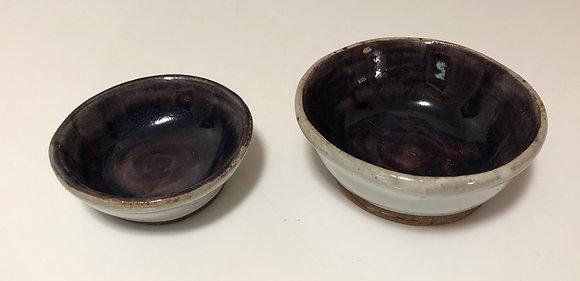 Purple and White Spice Prep Bowl Set