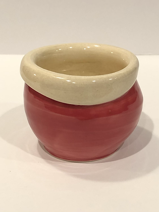 Red and white planter