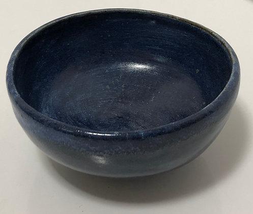 Indigo blue snack bowl