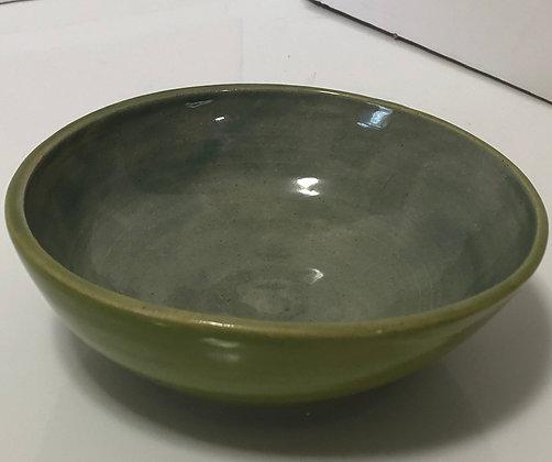 Green and blue salad bowl