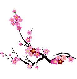 chinese-style-red-flower-element-cherry-