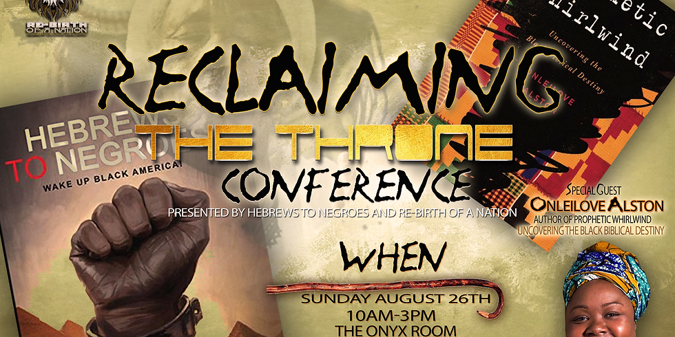 Reclaiming The Throne Conference New Jersey
