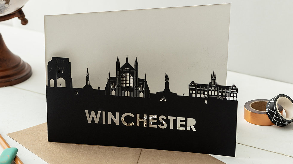 Winchester A5 Lasercut Greetings Card