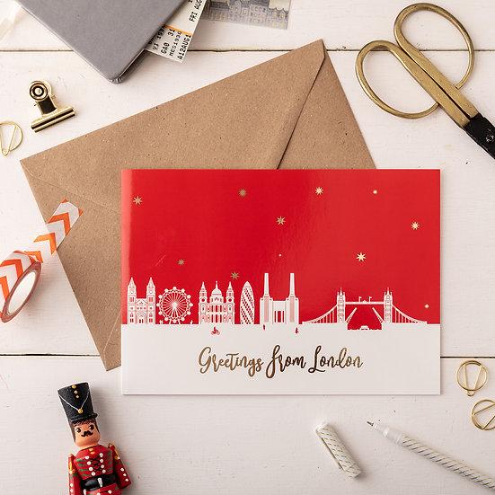 London Night A5 Greetings Card