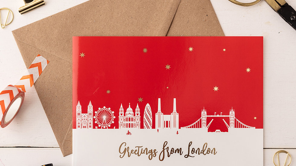 London Night A5 Greetings Card