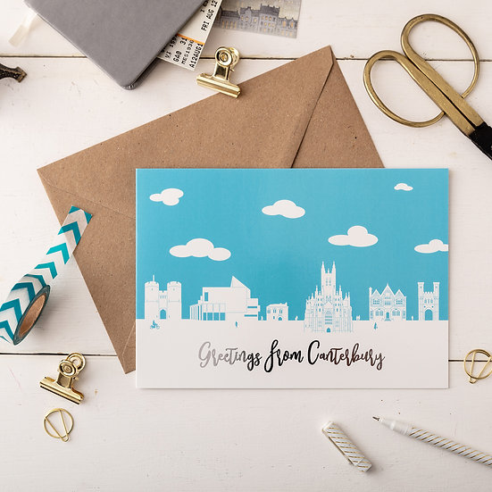 Canterbury Day A5 Greetings Card