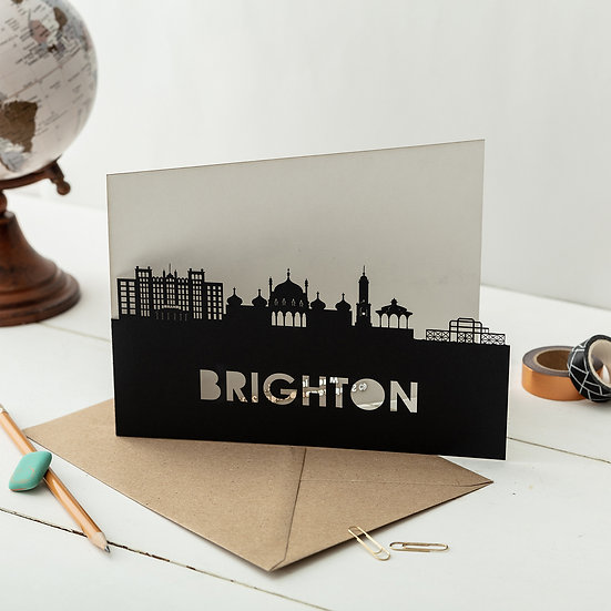 Brighton A5 Lasercut Greetings Card