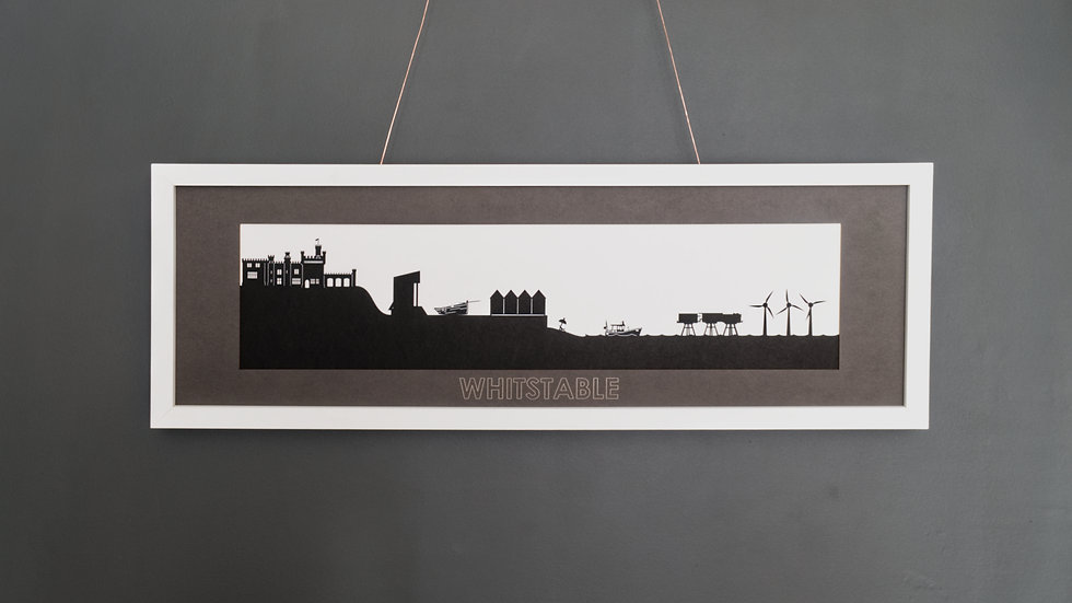 Whitstable Large Lasercut Scene