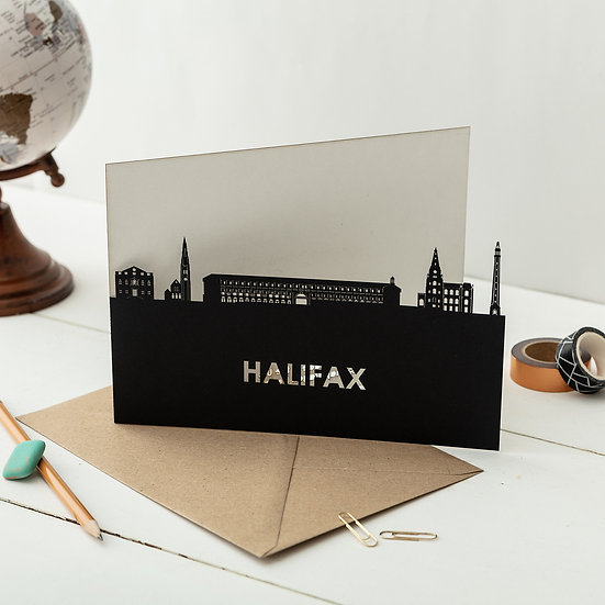 Halifax A5 Lasercut Greetings Card