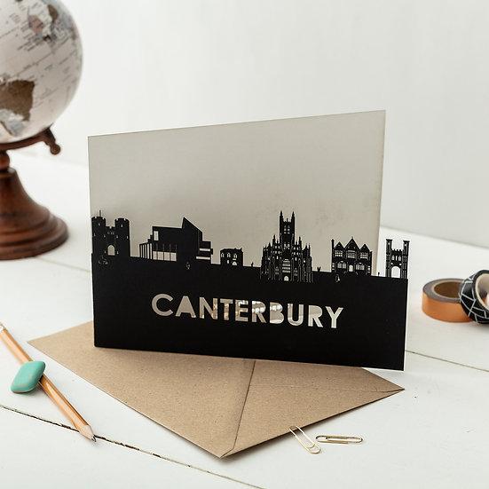 Canterbury A5 Lasercut Greetings Card