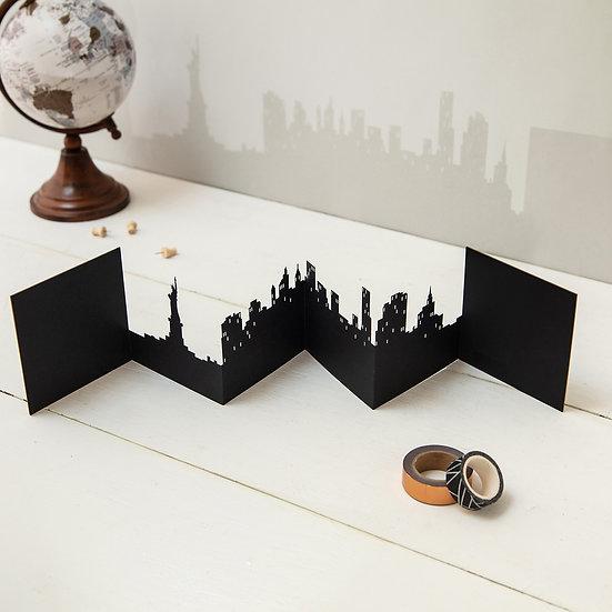New York 3D Skyline Card