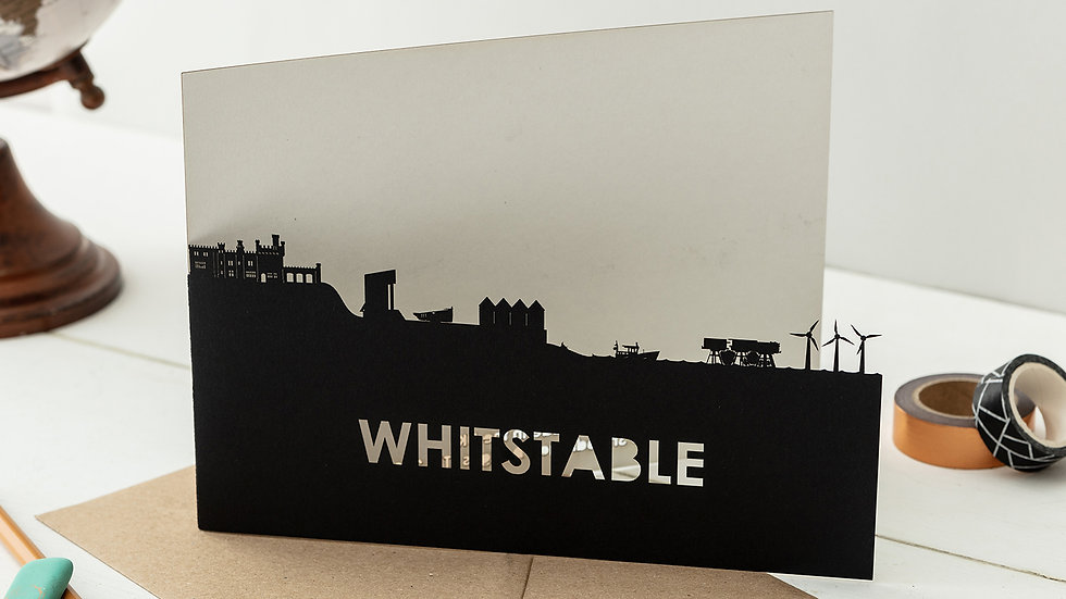 Whitstable A5 Lasercut Greetings Card
